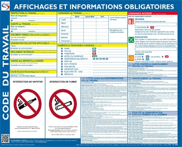 Affichage Obligatoire Du Code Du Travail 2019 Droit Du Travail Et