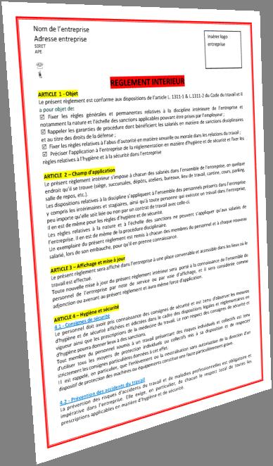 f6adcca6a99 Réglement intérieur obligatoire pour les entreprises dès 20 salariés